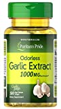Odorless Garlic by Puritan's Pride, 1000mg, 100 Rapid Release Softgels, White