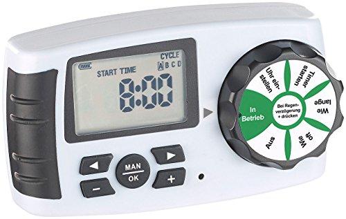 Royal Gardineer Zubehör zu Gartenbewässerung Uhr: Bewässerungscomputer BWC-400 für 4 Bewässerungs-Adapter, Magnet-Ventil (Garden-Bewässerungscomputer)