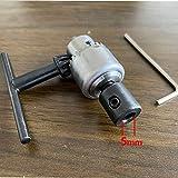 BEVANNJJ ZYY Micro Motor de Taladro de Taladro Rango de sujeción 0.3-4mm Mini pavimento montado en cónica Mandril de Taladro con Llave de Mandril 3.17/4/5/6/8 mm Manga del Eje del Motor (Color : 5mm)