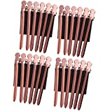 SOLUSTRE 24 pinzas de acero inoxidable para cortar el pelo, para peluquería, peluquería, peluquería, peluquería, peluquería, casa, peluquería, salón de peluquería o salón de belleza en oro rosa