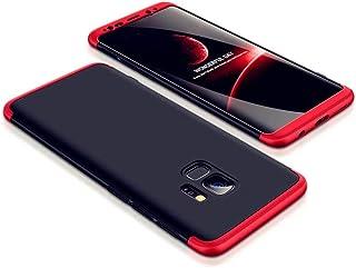 JJWYD Funda para Samsung Galaxy S8 Plus/S8+ Carcasa [Ultra-Delgado] [Ligera] Mate Anti-arañazos y Antideslizante Caso (No Incluido Protector de patalla) Negro Rojo