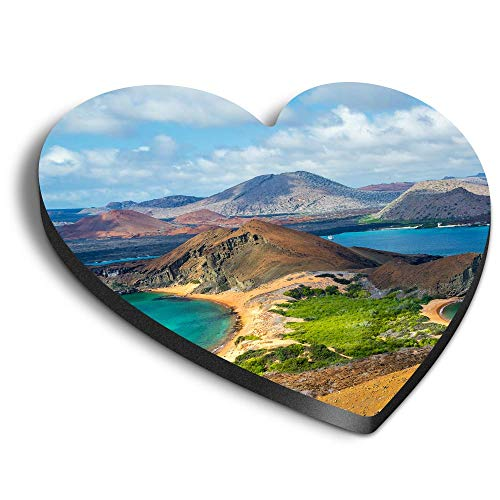 Destination Vinyl ltd Imanes de corazón MDF - Isla Bartolomé Islas Galápagos Ecuador para Oficina, Armario y Pizarra Blanca, Pegatinas Magnéticas 44226