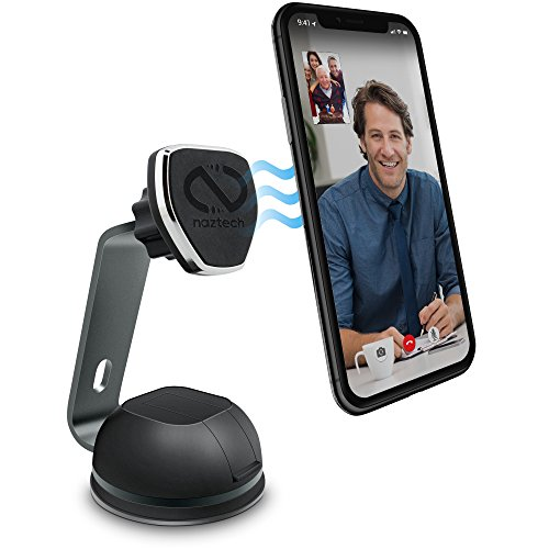 Naztech MagBuddy Magnetic Desktop Phone Mount [Hands-Free] Compatible for iPhone 12/SE 2020/11/11Pro/XS Max, Galaxy S20/S10/S9, Note20 5G/10/9 + More
