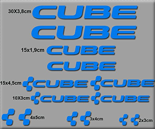 Ecoshirt JB-8J92-9S6J Sticker Cube Bike R38 Sticker Decals Sticker, Blauw
