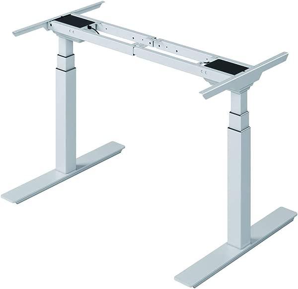 ARAZY Electric Adjustable Desk Dual Motor Height Sit Stand Desk Workstation 3 Stage Extended Range Frame With Memory Preset Handset Controller By Full Function 002