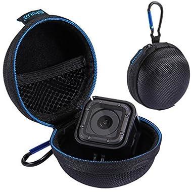 GoPro Hero Session Case - Wolven Portable Shockproof GoPro Hero Session Case / Electronic Accessories Organizer Holder / USB Flash Drive Case Bag - Black