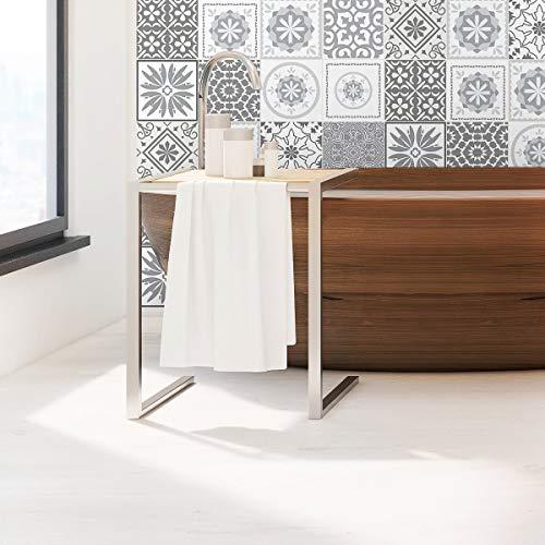 Ambiance-Live col-tiles-ROS-A849 Adhesivos de azulejos, vinilo, tonos de gris cordoba, 15 x 15 cm