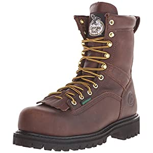 Georgia Boot Men's Georgia 8″ Lace-to-toe Steel Toe Work Boot Work Shoe