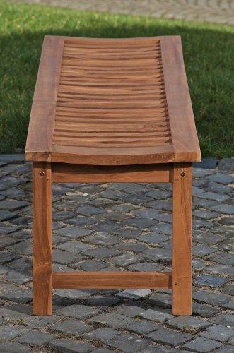 CLP Teakholz Garten-Bank HAVANA V2 ohne Lehne, Teak-Holz massiv (bis zu 8 Größen wählbar) 240 x 45 x 45 cm - 4