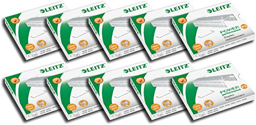 LEITZ 55720000 Power Performance P3 Agrafes, 26/6 26 / 6 Silber