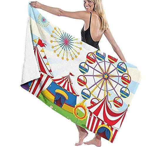 zwembad handdoek Carnaval Circus Party Prints Womens Spa Douche Zwembad Handdoeken Badjas Cover Up Bad Handdoeken strand Handdoeken