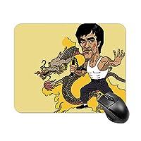 NANAGOTEN 李小龙 Bruce L E E ブルース.リー 武術 マウスパッド ゲーミング ニーアオートマタ マウスパッド ベーシック マウスパッド ゲーム用 多用途 デザイン付 あるゲーミングマウスマット 高級感 耐久性が良い 18x22cm