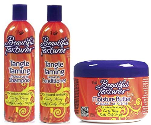 Beautiful Textures Tangle Taming Shampoo & Leave in Conditioner 355ml with Moisture Butter Whipped Curl Cream 226g