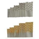 Brocas de taladro de acero de alta velocidad con revestimiento de titanio recubierto de titanio para madera, plástico y aluminio, cobre, acero 100pcs
