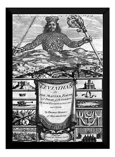 Lindo Quadro Decorativo Thomas Hobbes Leviatã P7820