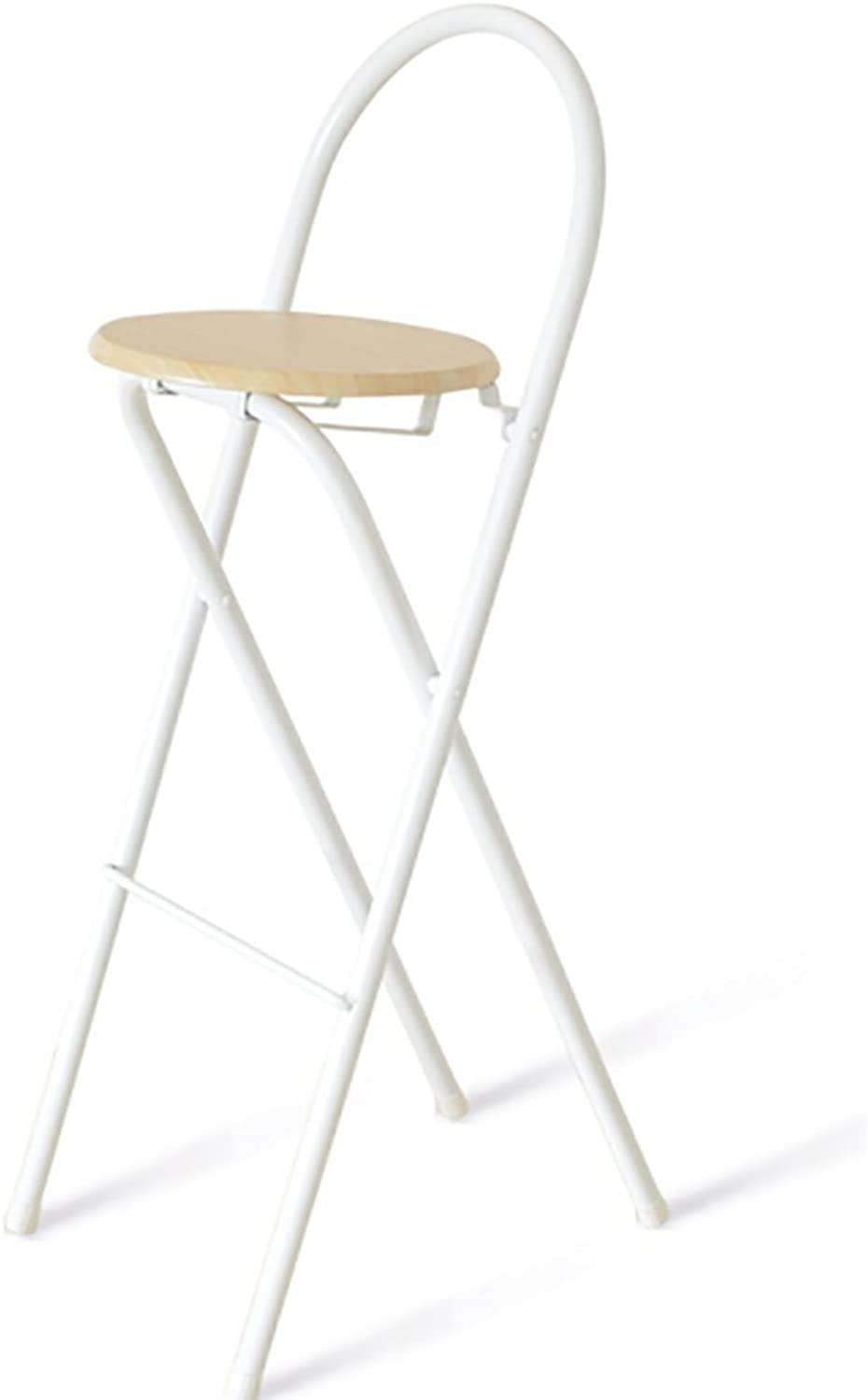 T-Day Barstools Bar stools Industrial Stool Breakfast Stool Folding bar Stool bar Stool bar Stool Modern Home Iron high Stool (color   White)