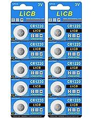 LiCB 10個入 CR1220 リチウム ボタン 電池 3V 1220 コイン形電池 水銀ゼロシリーズ