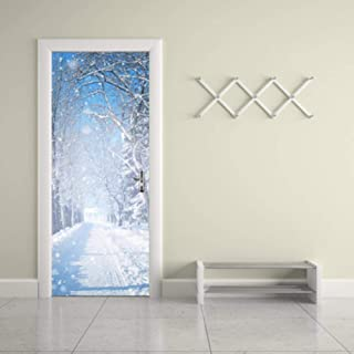 Cyril Chaplin Privacy Window Film Frosted Glass Film,Imitative Subway Door Sticker Removable PVC Vinyl Wallpaper Decals DIY 3D Wall Mural Poster for Door Decoration (15 x 78.7 Inch)