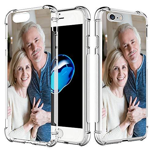 SHUMEI Coque personnalisée pour Apple iPhone 6 et iPhone 6S 4,7 Pouce Personnalisé Photo Cadeau Absorption de Chocs Coque TPU Transparent Souple DIY HD Image