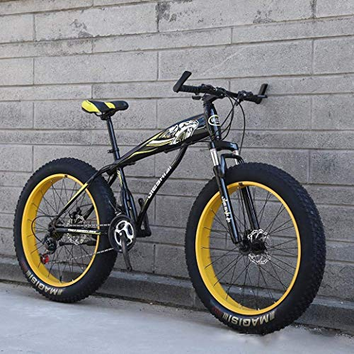 Bicicleta de montaña, Bicicleta de nieve de rueda grande de 24 '/26', Freno de disco doble de 21 velocidades, Horquilla delantera resistente que absorbe los golpes, Bicicleta de playa todo terreno p