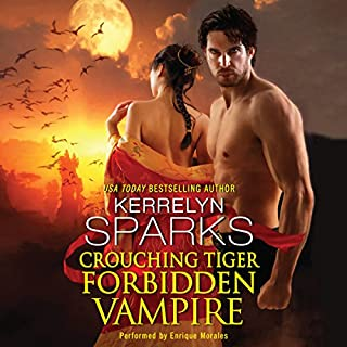 Crouching Tiger, Forbidden Vampire                   By:                                                                                                                                 Kerrelyn Sparks                               Narrated by:                                                                                                                                 Enrique Morales                      Length: 9 hrs and 3 mins     247 ratings     Overall 4.4