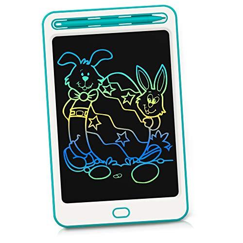 Richgv 8.5 Pollici Colorato Tavoletta Grafica LCD Scrittura, Tavolo da Disegno con Blocco dello Schermo, Elettronica Lavagna Cancellabile Portatile Digitale Ewriter per Bambini,Famiglia - Verde