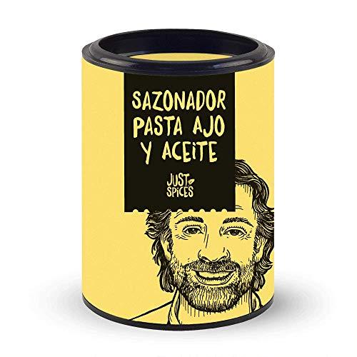 Just Spices Sazonador Pasta Ajo y Aceite, 50 g | Para platos de pasta, pizza y salsas de tomate | Cocina italiana