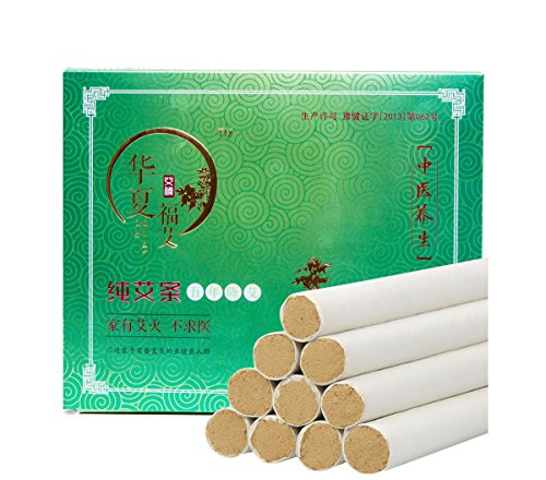 Moxa Sticks, Pure Moxa Rolls Five Chen 100% Wild Wormwood for Moxibustion(20 Rolls)