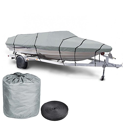 Yescom 20' 21' 22' 600d Waterproof Fish/ski Boat Cover V-Hull Trailerable Beam 100' W Oxford Bag...