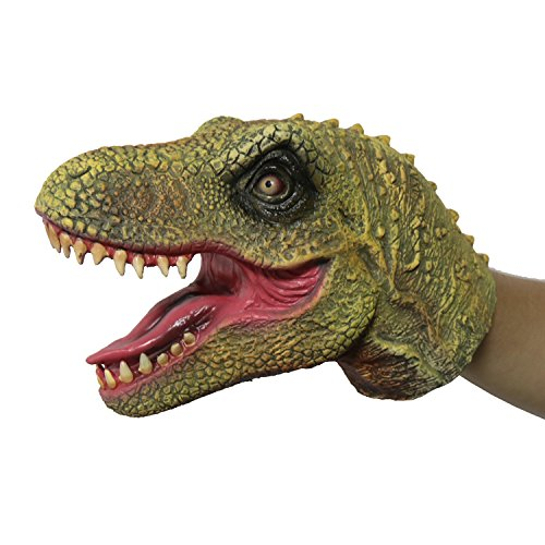 FantasyParty Hand Puppet Realistic T-Rex Role Play Toy Dinasour Latex Puppet for Both Adult and Children