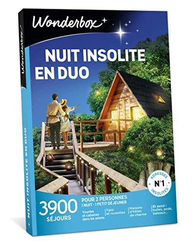Wonderbox – Coffret Cadeau - NUIT INSOLITE EN DUO - 3900...
