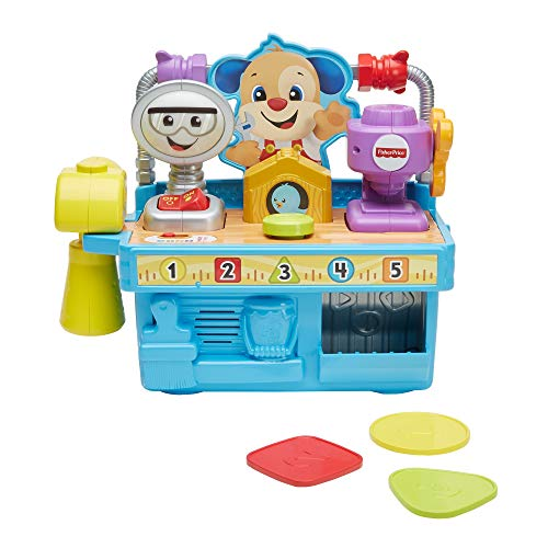 Fisher-Price GFP11 Laugh Busy Learning Tool Bench, Infant Toy, Multicol