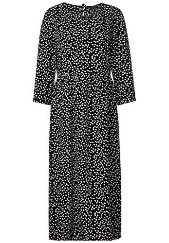 Street One Damen Midi Kleid mit Muster Black 42
