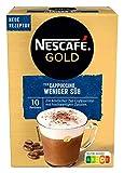 NESCAFÉ Gold Typ Cappuccino Weniger Süß, Getränkepulver aus löslichem Bohnenkaffee, koffeinhaltig, 1er...
