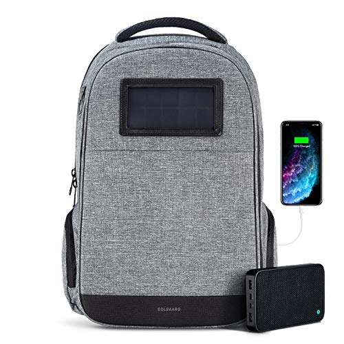 Solgaard Lifepack Lockable Backpack and Solarbank Portable Powerbank, Charcoal