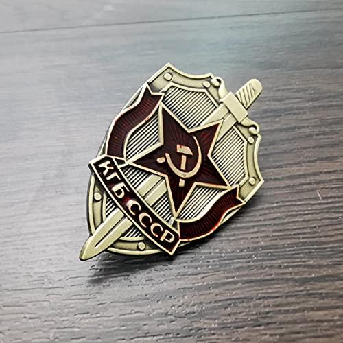 YUNjun Medalla de la Orden Rusa soviética de la URSS, Estrella roja Conmemorativa, réplica de la Segunda Guerra Mundial,colección deInsignias