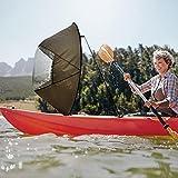 Vela de Viento de Kayak Grande de 46 Pulgadas, Vela de Viento Plegable de sotavento Canoas portátiles Kit de Vela de sotavento emergente Tabla de Remo de Kayak, para Botes inflables Kayaks Canoas