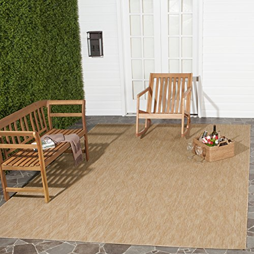Safavieh Courtyard Collection CY8522-03011 Indoor/ Outdoor Area Rug, 9' x 12', Natural/Natural
