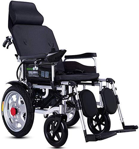 Elektrisch Angetriebener Rollstuhl, Zusammenklappbar, Mit Kopfstütze, Sitzbreite 45 Cm, Verstellbarer Rückenlehne Und Pedalwinkel, Mobilitätsstuhl, Tragkraft 150 Kg, Motorisierte Rollstühle, Schwarz