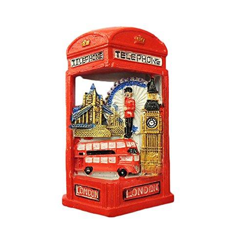 3D-Kühlschrankmagnet, Motiv: London, England, Telefonzelle, Reiseaufkleber, Souvenir, Heim- und Küchendekoration, Werbegeschenk