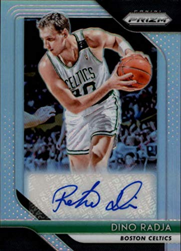 2018-19 Panini Prizm Signatures Prizms Silver #21 Dino Radja AUTO Autograph Boston Celtics NBA Basketball Trading Card