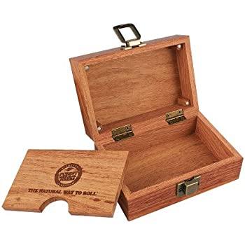 """Stash Box Raw Rolling Wood Box Magnetically Sealed 3.4"""" x 5"""" Inches"""