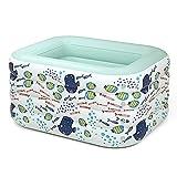 DFKDGL Aufblasbarer Kinderpool mit weich gepolstertem Boden und klappbarer Badewanne mit...