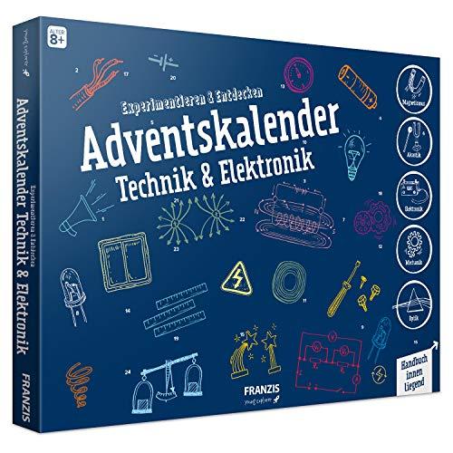 FRANZIS Adventskalender Technik & Elektronik | 24 spannende Versuche zum Experimentieren & Entdecken | Auch ohne Physikvorkenntnisse | Ab 8 Jahren