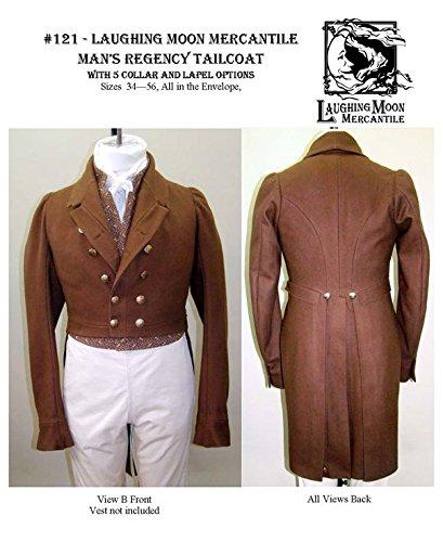 Men's Regency Tailcoat Dress Coat Jacket c. 1810-1830 Sewing Pattern #121 (Pattern Only)