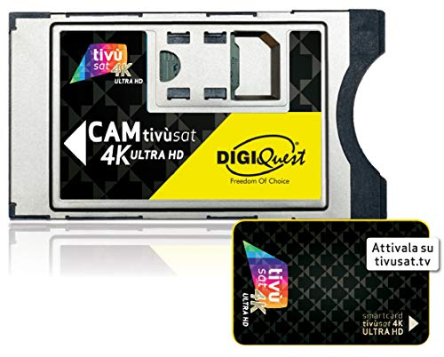 Digiquest CAM Tivùsat 4K Ultra HD Schwarz