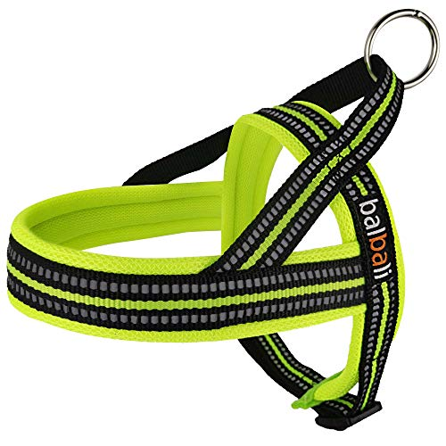 Dog Harness Easy Walk for Small Dogs Pug Life with Easy On and Off Reflective Vest and Padded Adjustable Gentle Lead(Green,XS)
