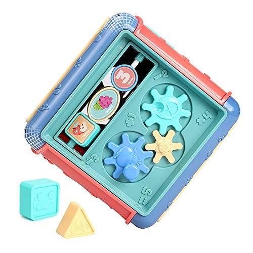 Juguete cubo de actividad de madera 6 en 1 Bead Maze Multipropósito Educativo Forma de madera Clasificador de colores Actividades para bebés Centros de juego Para cuentas de conteo de ábaco, laberinto