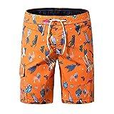 Mingliang Pantalones De Playa De Huellas De Aves De Animales Pantalones Cortos Ocasionales Sueltos para El Verano C-Xlarge/XL