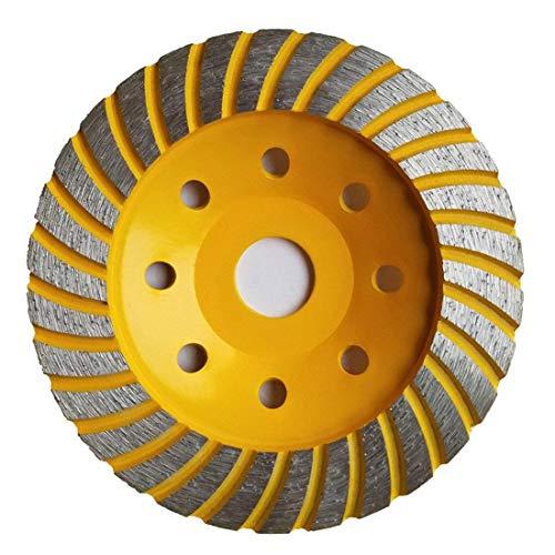 Disco de diamante de 125 mm de Apulus, disco de diamante para hormigón, mármol, granito, piedra, cemento y cerámica, rueda de copa de diamante para amoladora angular